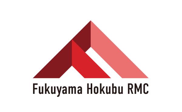 地域を表現した赤色のロゴ